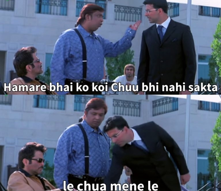 welcome meme template majnu bhai