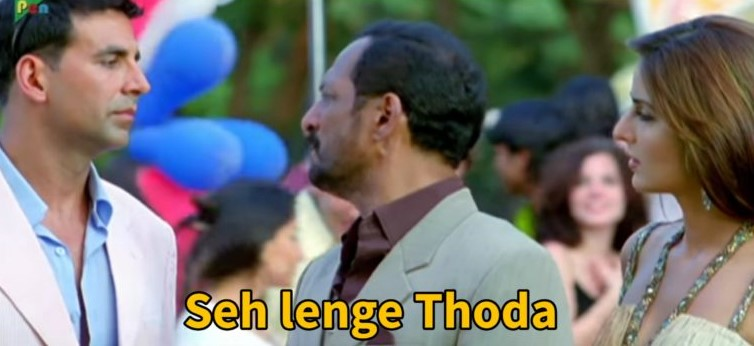 welcome meme template seh lenge thoda