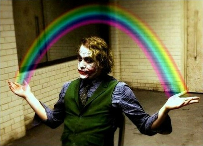 Rainbow-Joker template