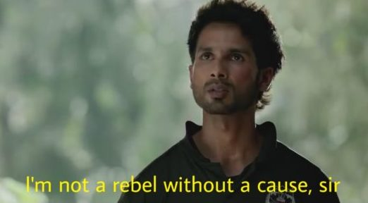 i'm not a rebel without a cause sir kabir